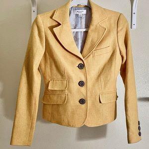 Paul & Joe Target Wool Blazer Yellow Size Small